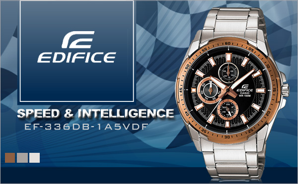 CASIO EDIFICE超跑系 EF-336DB-1A1VDF 深邃酷黑